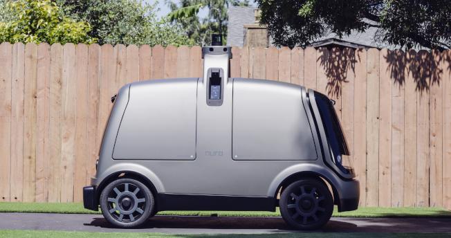 用来送货的自驾车称为R1,没有设驾驶方向盘和座位。美联社