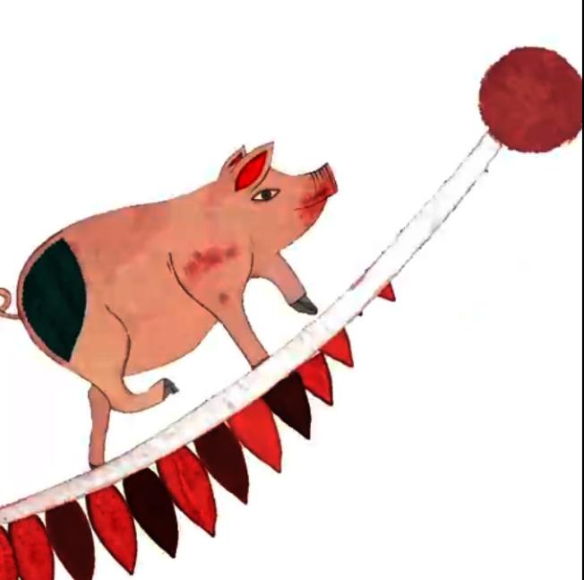 法国精品CHLOE在微博发出「萌猪贺岁表情包」,用可爱插画分享俏皮小猪代表的「步步高升」给粉丝。 (取材自微博)