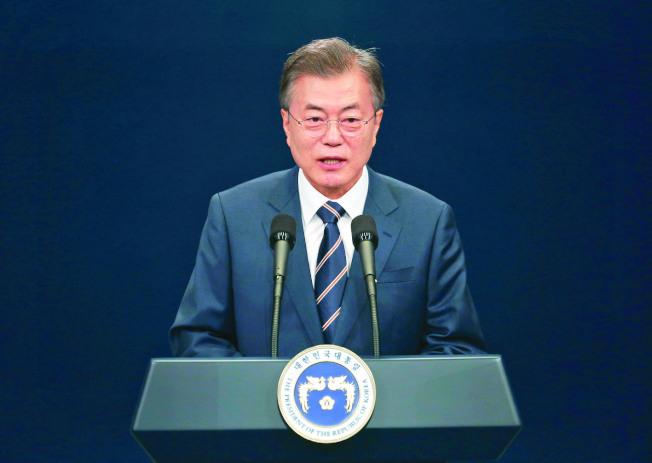 南韩文在寅下令彻查张紫妍轻生案、胜利夜店涉勾结警方等案件。 (美联社)
