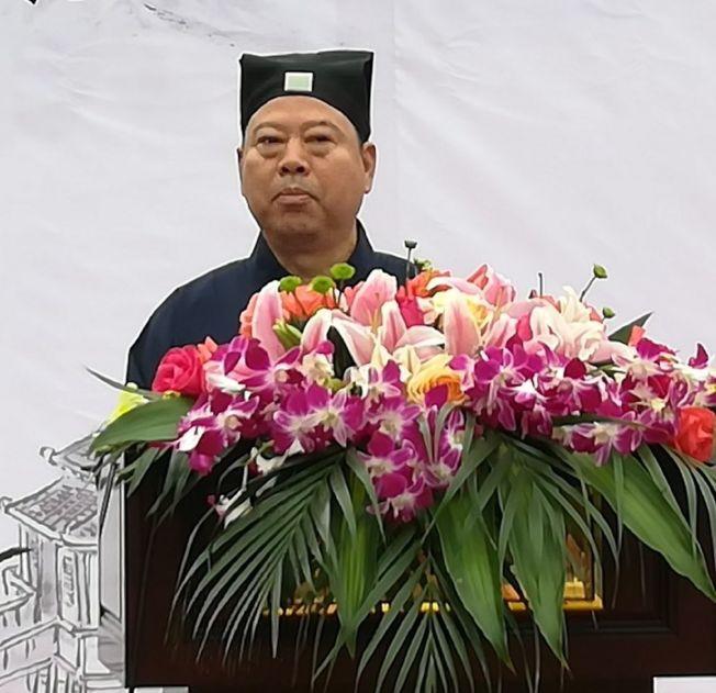 陆文荣目前是中国道教协会副会长。 (取材自微博)