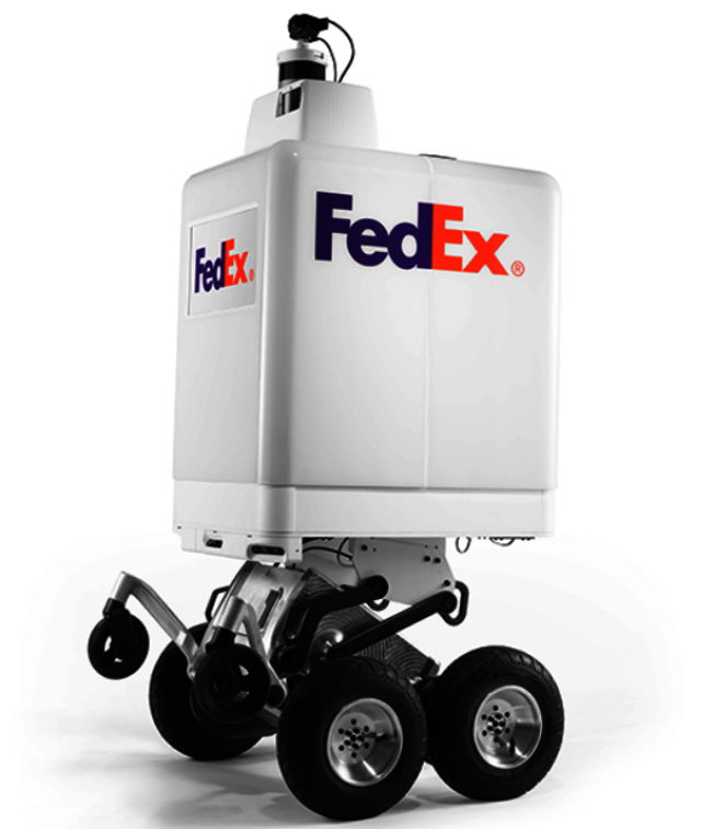 FedEx推出的送货机器人将在新罕布夏州曼彻斯特市等几个美国城市试行。 (FedEx网站)
