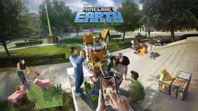 Minecraft Earth游戏预计今年夏天展开封闭测试,现在注册就有可能成为限量的首批玩家。 (取材自微软官网)