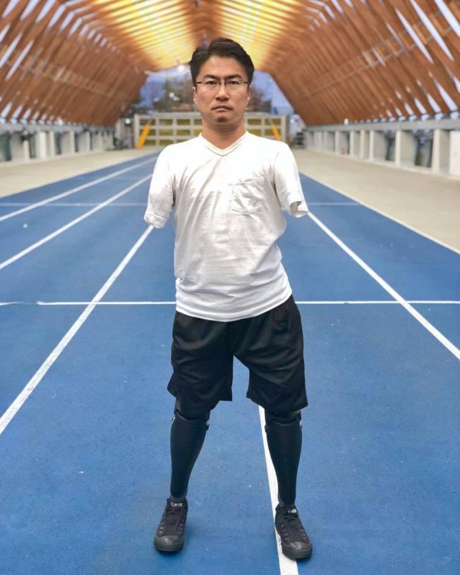 乙武洋匡今年2月就曾分享自己装上义足走路的影片。 (取材自Instagram)
