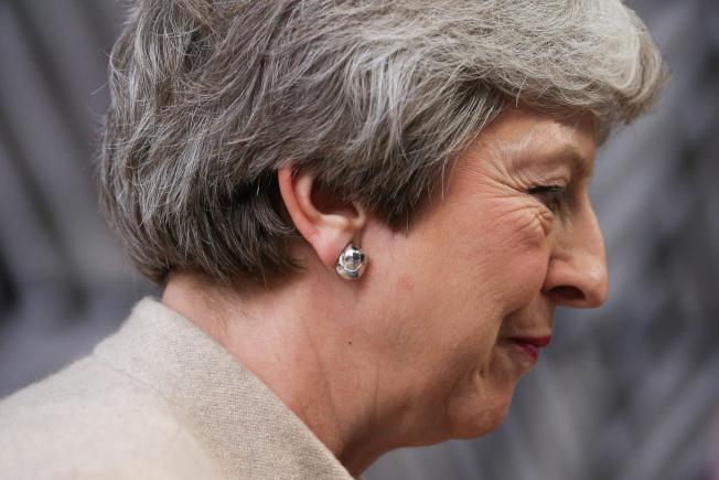 英国首相梅伊28抵达布鲁塞尔出席欧盟非正式峰会。新华社