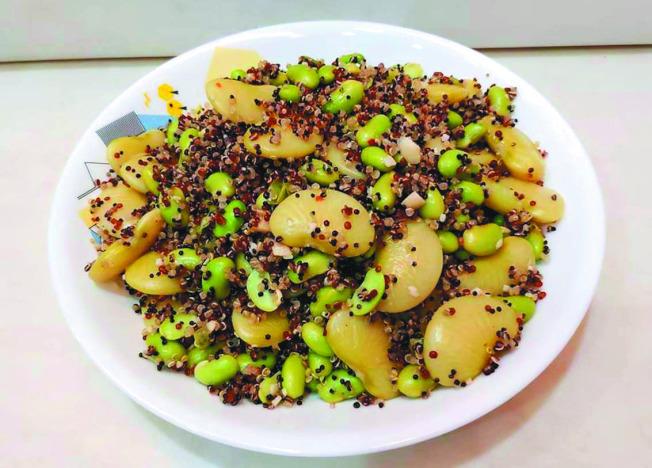 蒜泥藜麦毛豆。 (图:陈今珍提供)