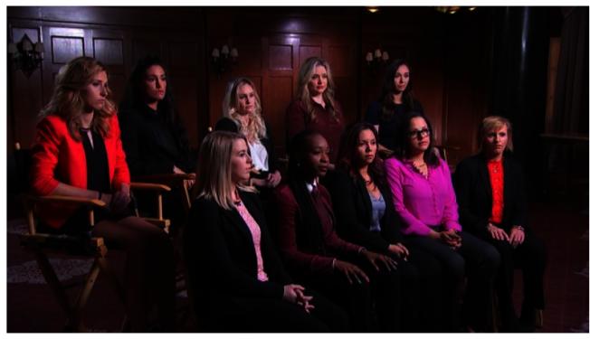 其中十位前女性学员出面接受NBC News访问,说明她们提告的原因。 (截频NBC News)
