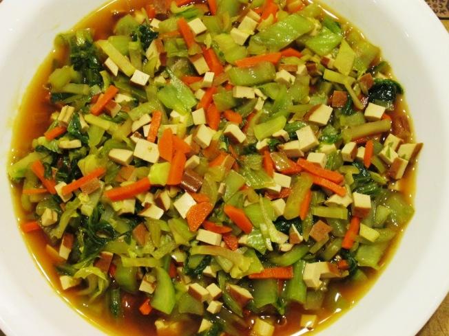 小芥菜炒豆干
