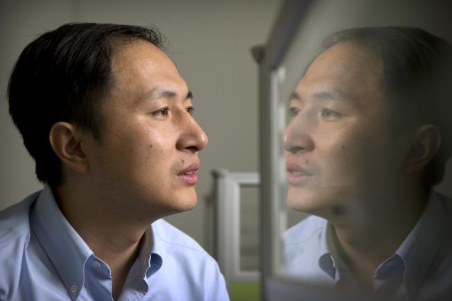 中国科学家贺建奎公布他的实验成果后,全球各界哗然。 (美联社)