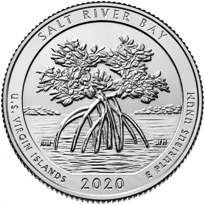 2020 America The Beautiful Quarters Coin Salt River Bay Us Virgin Islands Uncirculated Reverse