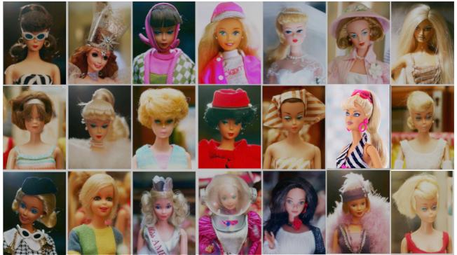 各種造型的芭比娃娃。(HISTORY.COM)
