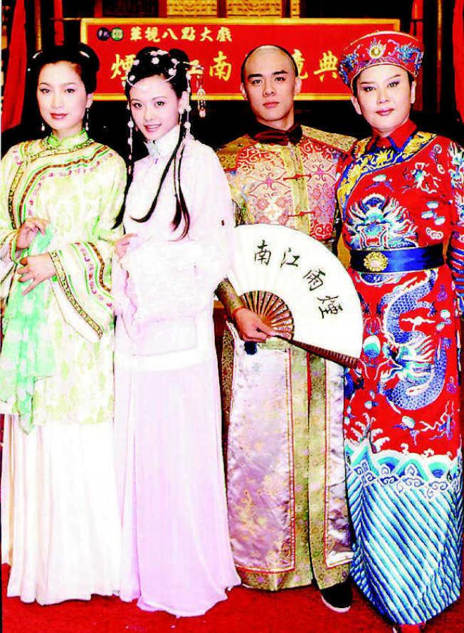 張瓊姿(左起)、蕭淑慎、竇智孔、陳麗麗當年演出的「煙雨江南」廣受好評。(本報資料照片)