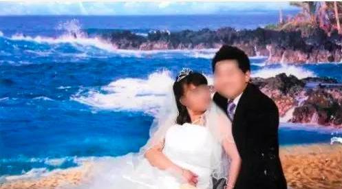 蕭正義的中介幫忙中國公民和美國公民結婚獲得綠卡。圖為假結婚照。(聯邦司法部提供)