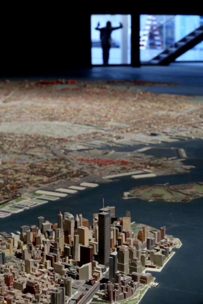 紐約市全景由Raymond Lester & Associates承建,動用了100多人參與,以三年時間完成,建造比例1比1200( 每寸等於100呎)。(Getty Images)