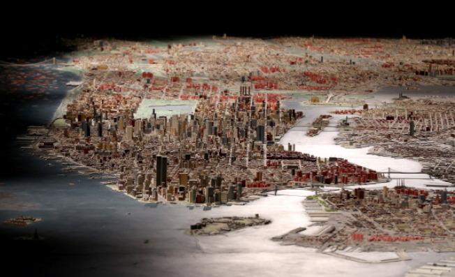 紐約市全景 ( Panorama of the City of New York ) ,是為了1964年紐約世博會而建造的城市模型,至今已有52年歷史。(Getty Images)