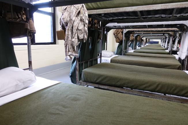 軍中講求紀律,軍營宿舍十分整潔。(記者金春香/攝影)