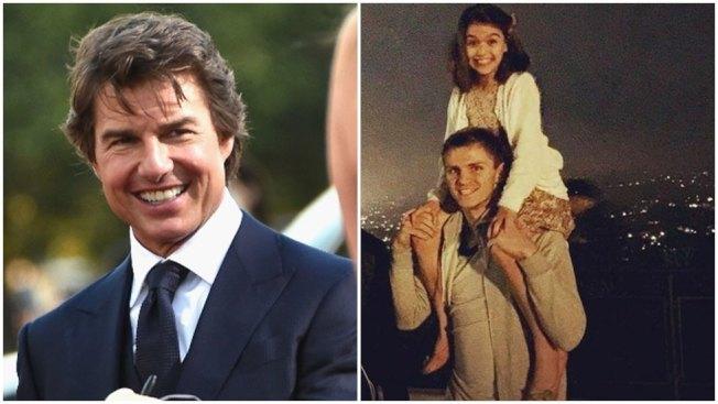 圖:湯姆克魯斯(左)的女兒蘇蕊(右上)長大了。圖/法新社、摘自IG