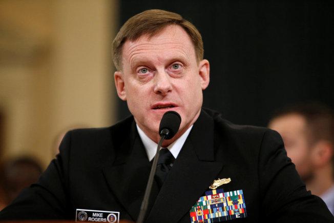 美國國安局長羅傑斯20日於國會作證時,否認國安局要求英國監聽部門協助竊聽川普。(路透)