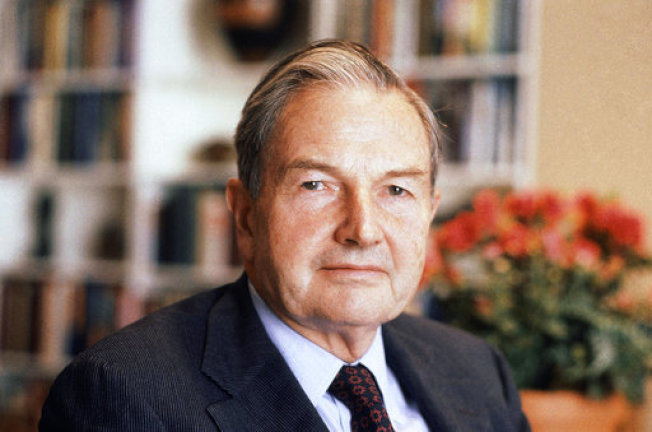 富豪慈善家大衛洛克斐勒辭世 享壽101 。美聯社檔案照片