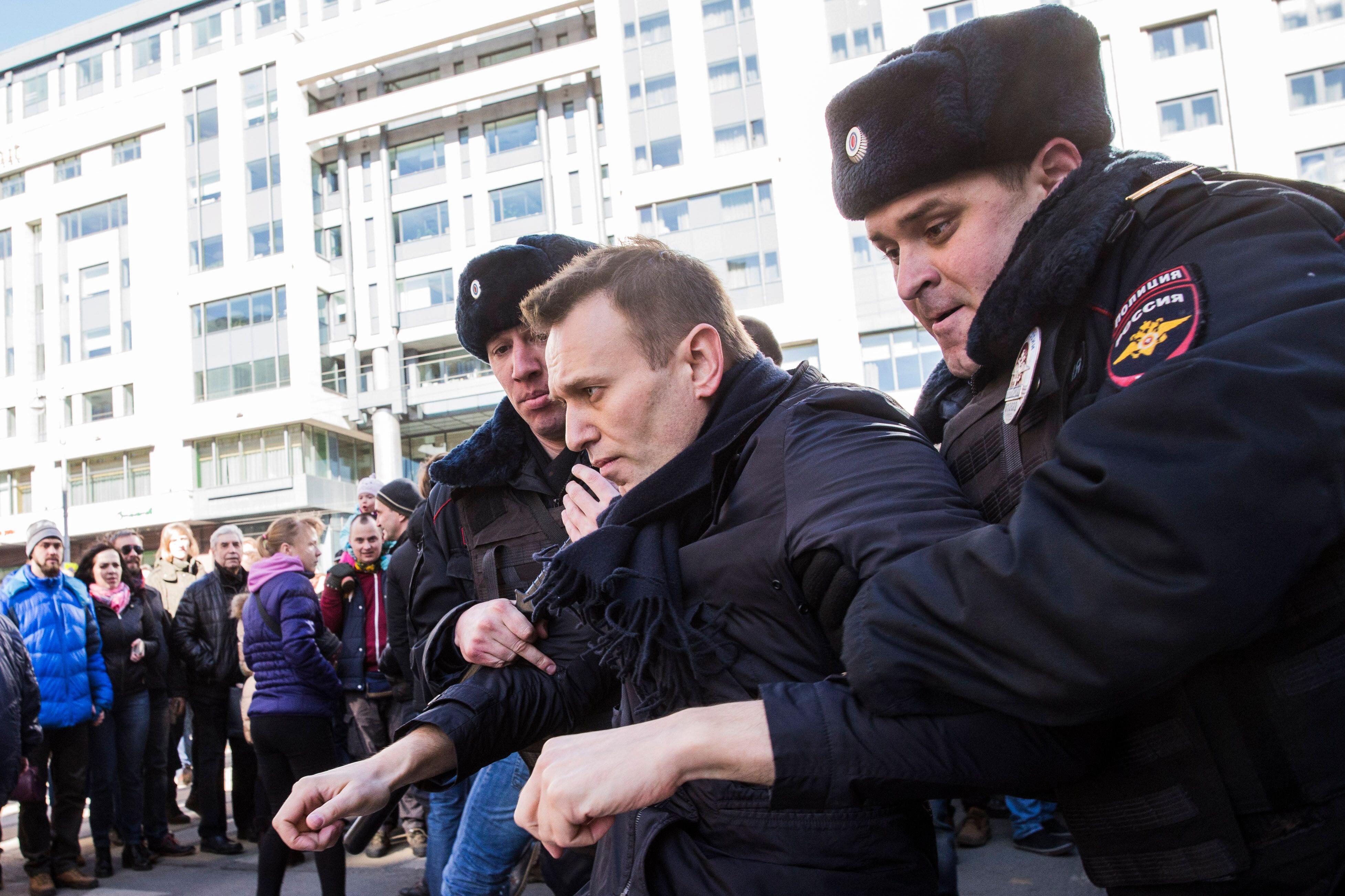 La Russia per lanciare manifestazioni anti-corruzione del leader dell'opposizione Na Wani giorno di Santo Stefano è stato arrestato a Mosca. (Novosti europea)