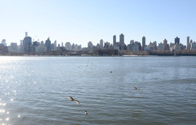 阿斯托利亞Vernon Blvd隔著東河與曼哈頓相望。(記者許振輝/攝影)