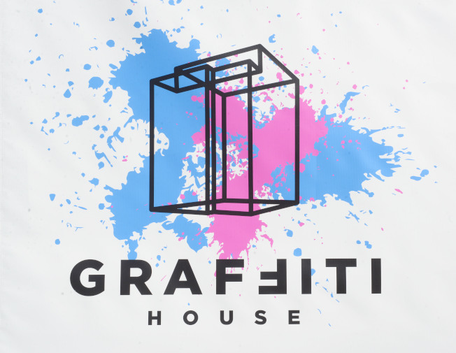 「Graffiti House」標誌。(記者許振輝/攝影)