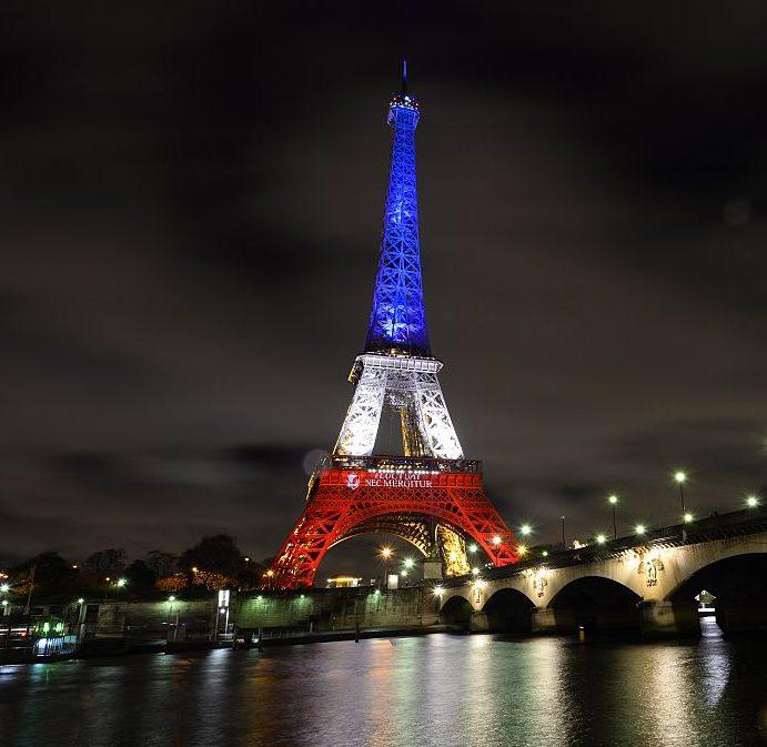 2015 年11月17日的艾菲爾鐵塔。Getty Images