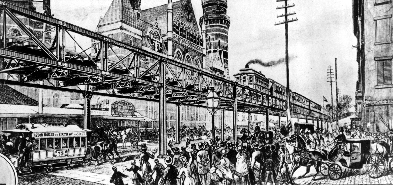 「六大道高架地鐵」於1870年代開始興建,1878年6月開始營運。美聯社