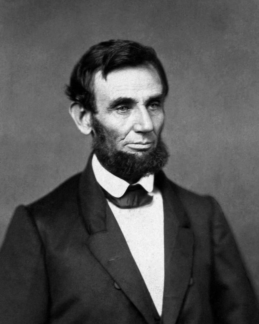 l861年林肯宣示就任第16任總統的正式官方照片。