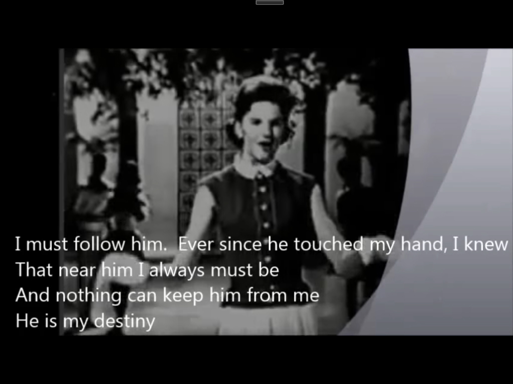 Little Peggy March 演唱 「I Will Follow Him 」。(youtube截圖)