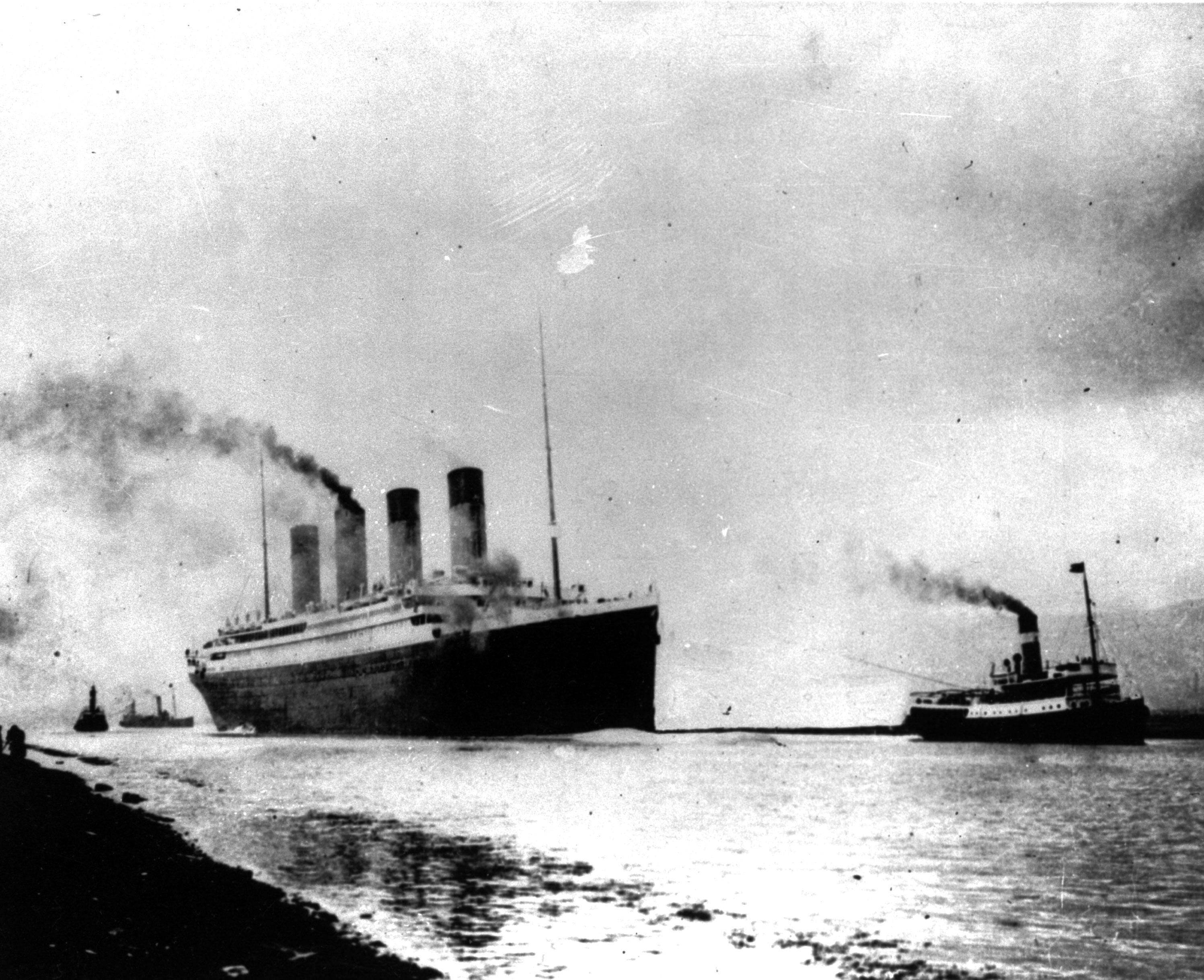 鐵達尼號1912年4月10日載著2200多名船員及乘客從英國南安普敦出發,展開處女航,計畫橫渡大西洋到達紐約市。(美聯社)