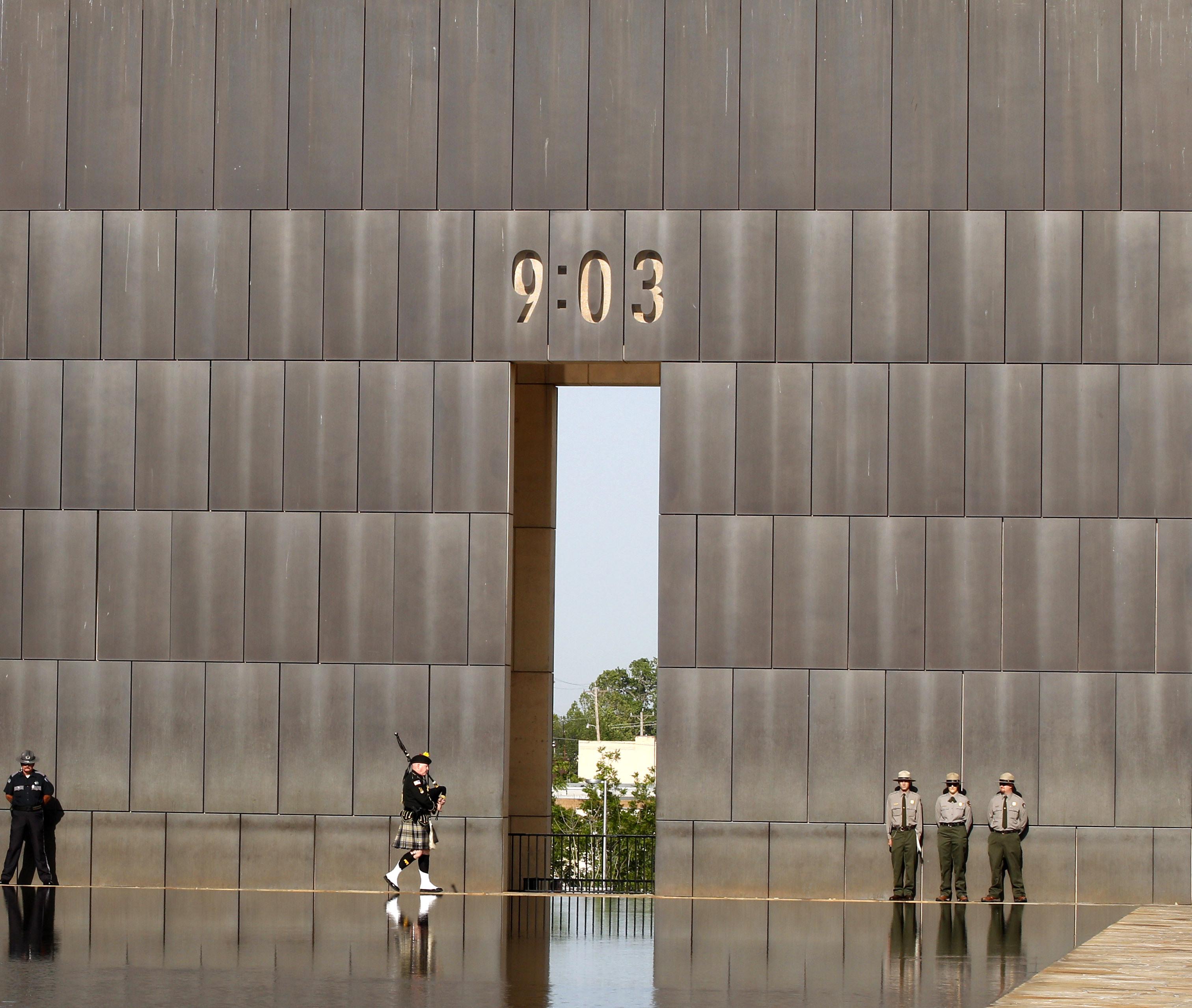 Alfred P. Murrah大樓改建為爆炸案的紀念場所Oklahoma City National Memorial and Museum。(美聯社)