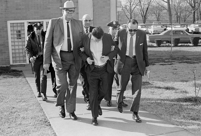 兇嫌James Earl Ray被判99年牢獄, 1998年4月23日死於獄中。(美聯社)