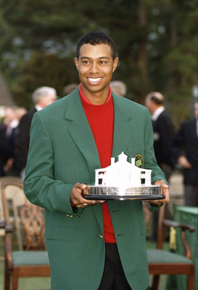 6.伍茲奪得1997年名人賽。(Getty Images)