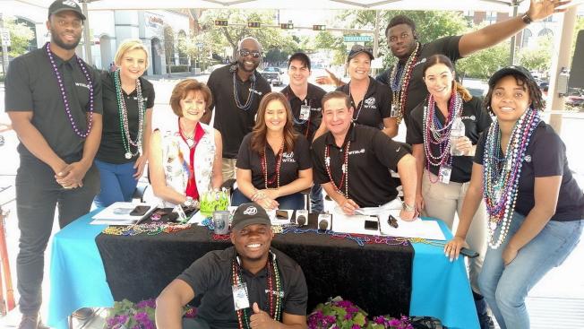 WTXL Tallahassee派出支援「2017年塔城之春」大遊行的工作小組。(塔城ABC電視台WTXL Tallahassee提供)