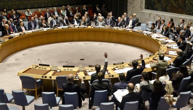 安理會表決懲戒敘利亞案,遭到俄羅斯否決。(美聯社)