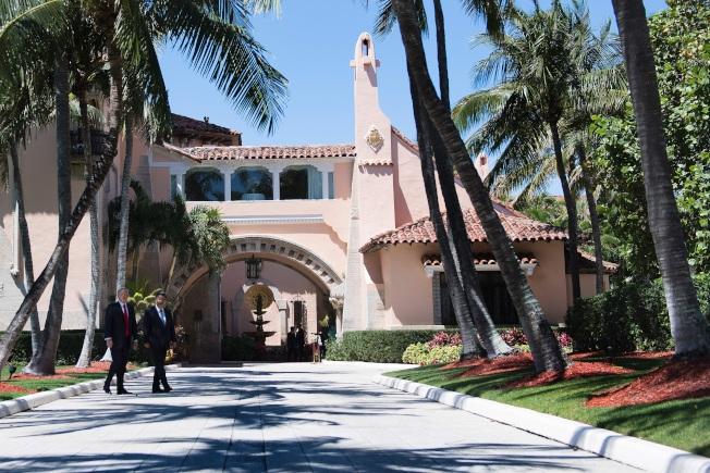 川普總統位於佛羅里達州棕櫊灘的海湖莊園(Mar-a-Lago)。(Getty Images)