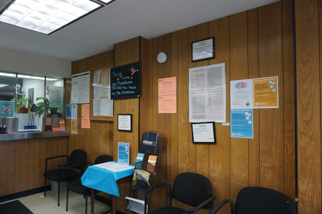 Provident Loan Society法拉盛分行入口處。(記者王若馨/攝影)