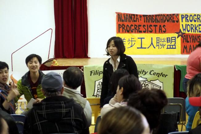 華人進步會將參與五一國際勞動節大遊行。(記者關文傑/攝影)