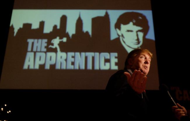 川普為實境秀「誰是接班人」造勢。(美聯社)