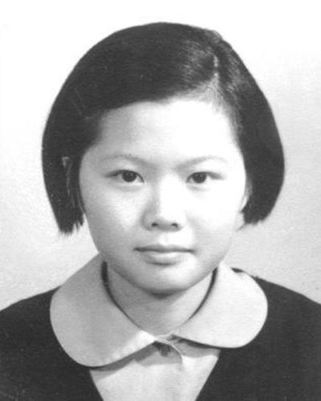 總統蔡英文年幼時的照片。報系資料照