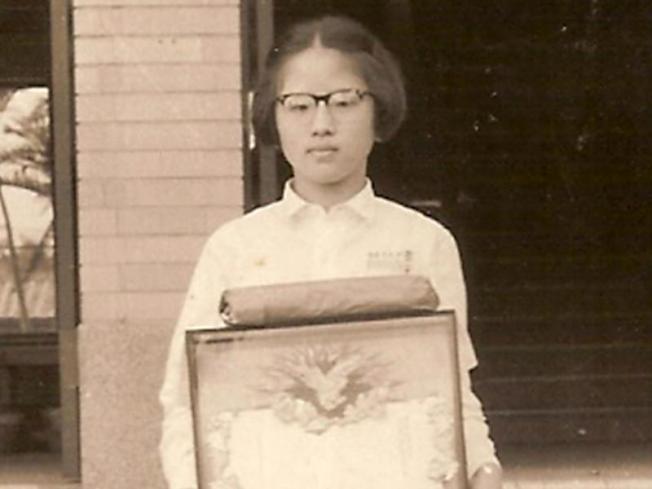 國民黨主席洪秀柱年輕時有可愛呆萌感。報系資料照