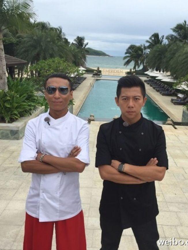對於陳羽凡(左)因婚變宣布無限期離開娛樂圈,胡海泉(右)否認「羽泉組合」將解散。(取材自微博)