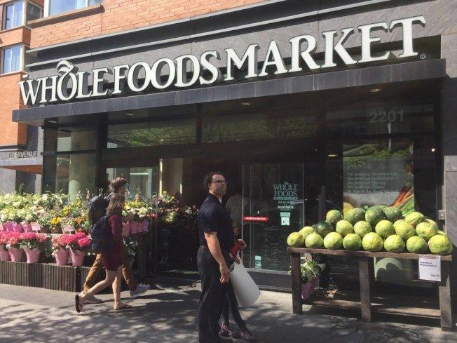 美國華府喬治華盛頓大學附近的「全食」(Whole Foods)超市,結合超市與餐廳。 華盛頓記者張加/攝影