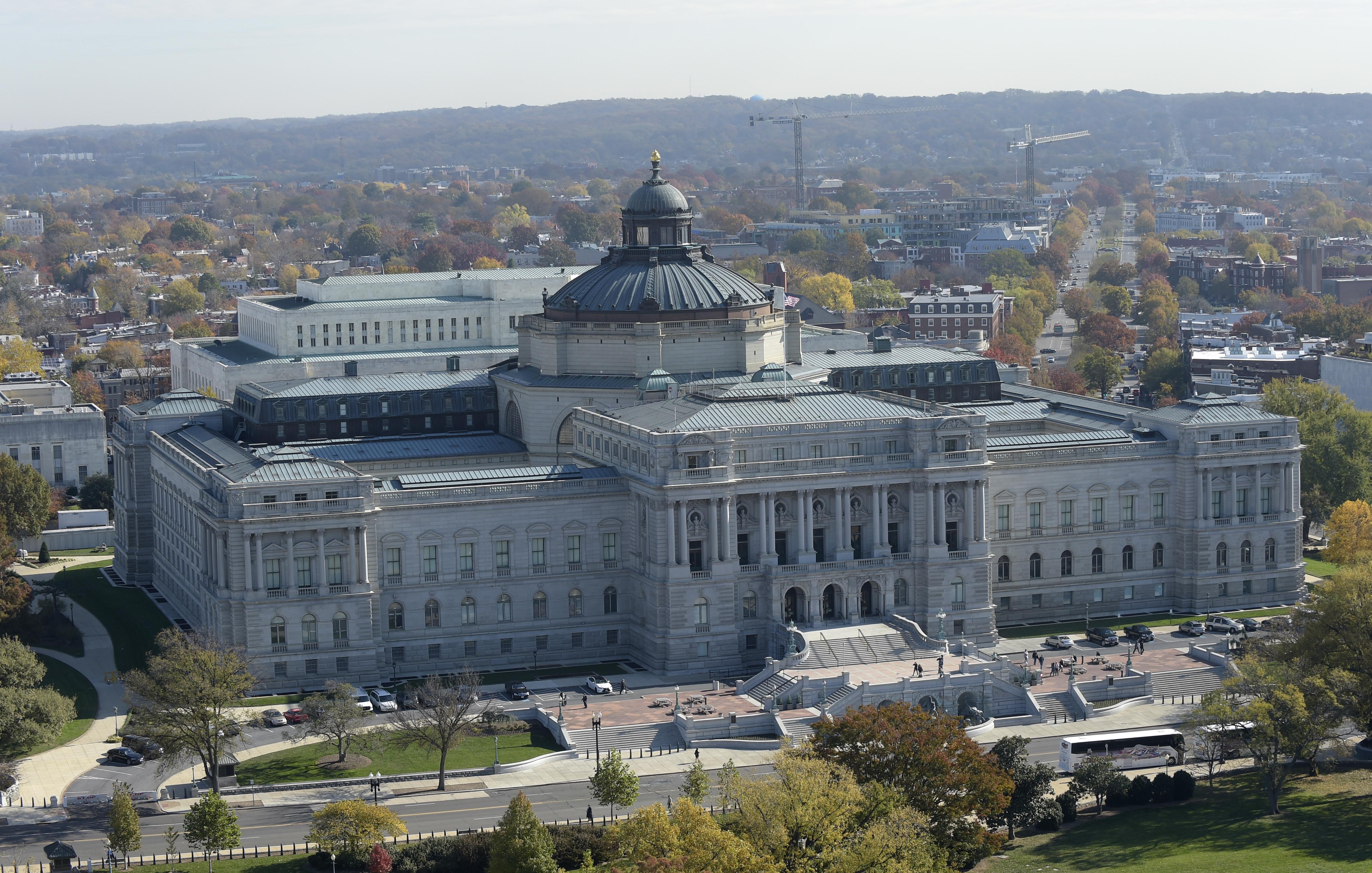 美國國會圖書館。(美聯社)