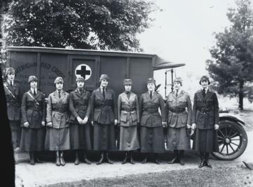 1920年代新澤西州Planfield的紅十字會成員。(History.com)