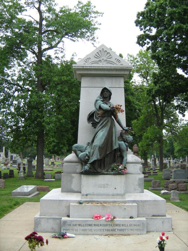 「乾草市場烈士紀念碑」。(網路圖片)