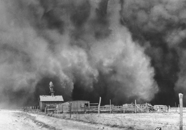 1935年4月15日奧克拉荷馬「黑色星期天」。(美聯社)