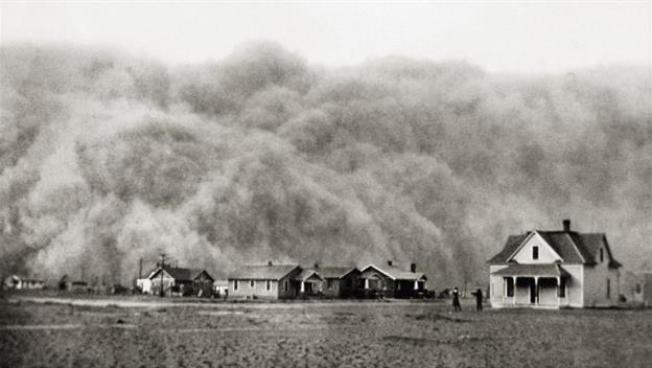 1935年德州沙塵暴。(國家檔案局)