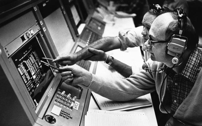 休士頓太空中心的控制中心資料照片。(美聯社)