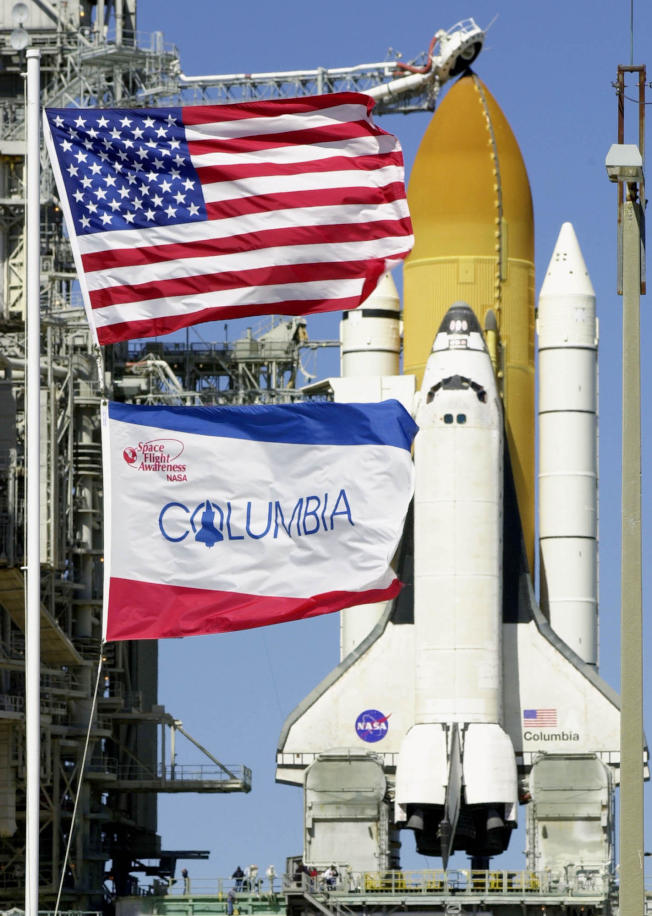 「哥倫比亞號」太空梭是美國第一艘可重複使用的飛船。(美聯社)